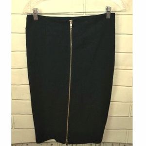 Gianni Bini Exposed Front Zipper Sexy Pencil Skirt
